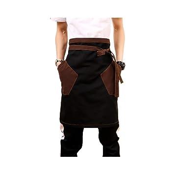 QEES Delantal de cintura media para hombres, resistente al ...