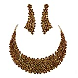 Jewelshingar Antique Gold Plated Cubic Zirconia Stones Necklace set For Girls ( 81042-nz )