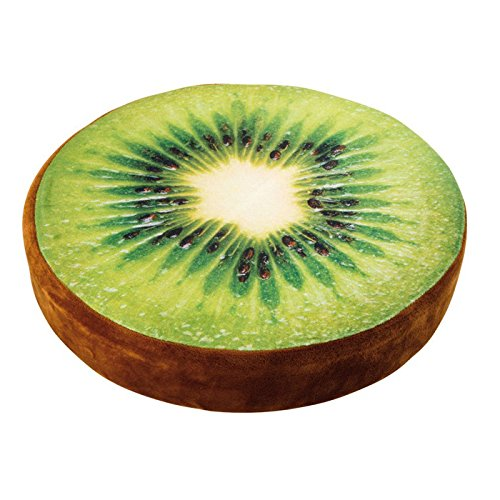 Small Foot 4166 Pouf Kiwi, Tessuto,, 39x39x7 cm small foot by Legler