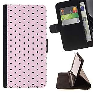 Momo Phone Case / Flip Funda de Cuero Case Cover - Motif Rose Band Aid Noir - Samsung Galaxy Note 3 III