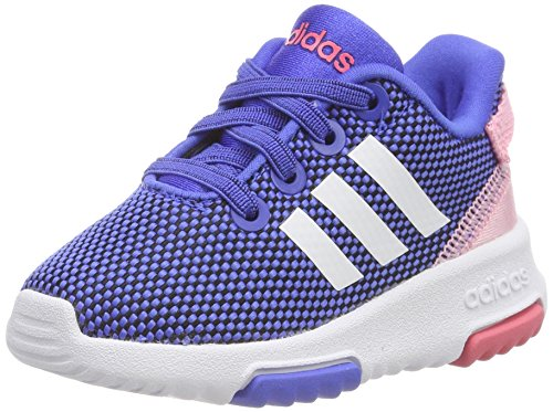 adidas Baby Mädchen Racer TR Sneaker Blau (Hi-Res Blue/Footwear White/Light Pink)