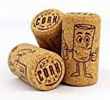 Flipping Corks New Wine Bottle Corks| 24mm x 44mm | 15/16 x 1 3/4 Micro-Pearl Agglomerated | Excellent for Bottling or Corks for Crafts | Bag of 50 | Premium Thumbs Up Wine Stoppers