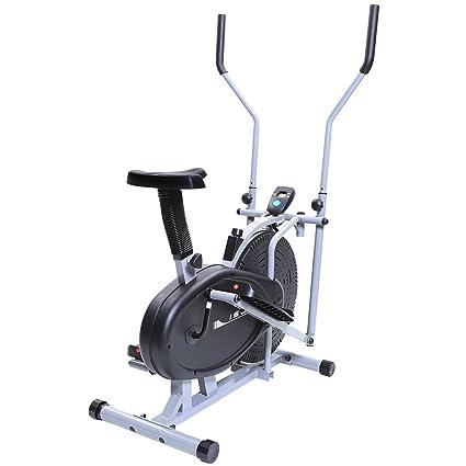 Ise bicicleta estática y bicicleta elíptica 2 en 1 entrenamiento Cardio con asiento: Amazon.es: Deportes y aire libre