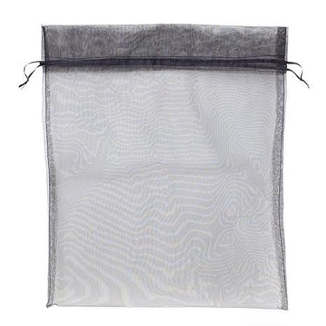 12 Large Black Organza Bags with Drawstrings (Large 12