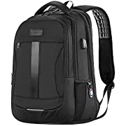 Laptop Backpack, Anti-Theft Business Travel Work Computer Rucksack with USB Charging Port, 15.6-17 Inch Large…