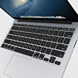 """iBenzer Macaron Series Keyboard Cover Silicone Rubber Skin for Macbook Pro 13"""" 15"""" 17"""" (with or w/out Retina Display) Macbook Air 13"""" and iMac Wireless Keyboard - Ultra Thin Clear CA-MKC01TPU"""