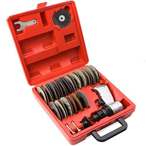 "3"" air surface grinder mini disc sander polisher prep 38 pcs pneumatic tool kit, NEW"