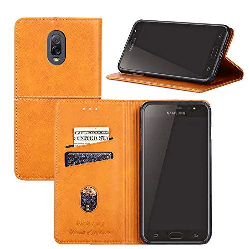 Galaxy J7 Plus/C8/C7 2017 Case,YEEGG Wallet Case for Samsung Galaxy J7 Plus/C8/C7 2017 Case,PU Leather Flip Wallet Cover Case for Galaxy J7 Plus/C8/C7 2017 - (Brown)