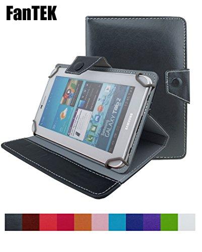 FanTEK Universal 8 Inch Tablet Leather Cover Case Fit for Dr