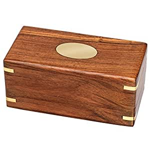 Bits and Pieces - The Secret Enigma Gift Box - Wooden Brainteaser Puzzle Box