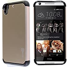 Desire 626 / 626s Case, CoverON® [Slim Guard Series] Slim Dual Layer Armor Hard Cover Thin TPU Phone Case For HTC Desire 626 / 626s - Gold / Black