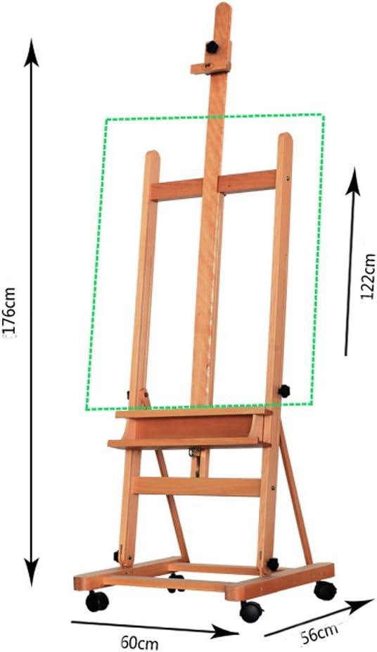 UULIKE Natural Wood Display Easel Oil Painting Frame Board Easel Desktop Display Stand Mini Exhibition Shelf Artist Studio Tripod Tabletop Holde for Drawing 24/×50cm