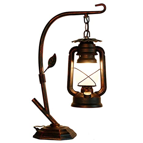 RARLONLY Rustic Lodge Novelty Desk Lamp, Table Lamps for Living Room ...