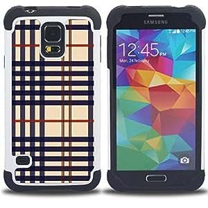 "Hypernova Híbrido Heavy Duty armadura cubierta silicona prueba golpes Funda caso resistente Para SAMSUNG Galaxy S5 V / i9600 / SM-G900 [Textura del paño""]"
