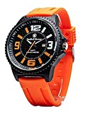 Campco Men's SWW-LW6083 EGO Bold Large Black Dial Rubber Band Watch