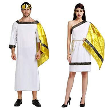 Amazon.com  KM Halloween Costumes Ancient Greek god for Women and Men   Clothing 0719721c1a7