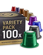 REAL COFFEE Nespresso Compatible, Variety Bundle, 10 Packs, 100 Capsules, Denmark