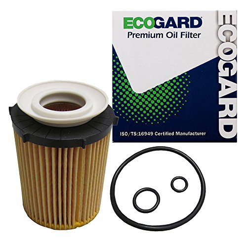 ECOGARD X10259 Cartridge Engine Oil Filter for Conventional Oil - Premium Replacement Fits Mercedes-Benz C300, CLA250, GLA250, GLC300, E300, Metris, SLK300, SLC300, B250, C350e, CLA45 AMG