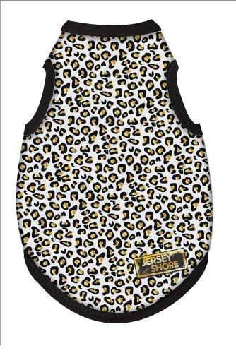MTV's Jersey Shore Dog Shirt, White Leopard Print, Medium - Exclusive Print Jersey