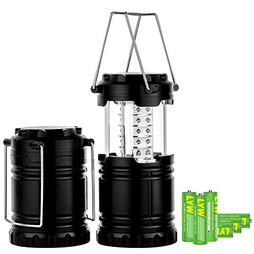 MagicBuds-Portable-Outdoor-LED-Camping-Lantern-with-6-AA-Batteries-2-Pack-Black-Collapsible