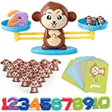 Monkey Number Balance Math Games Preschool Educational Toys Early Math Teaching Tool Counting Toy for Kids Learning Numbers, Basic Addition, Subtraction Kindergarten, Boys, Girls, Toddlers 3, 4, 5 Years Old, STEM Toy Math Balance (brown)