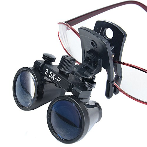 Zgood Dental Binocular Loupes Surgical Glasses Magnifier Clip on Style DY-110 3.5X-R by ZGood (Image #7)
