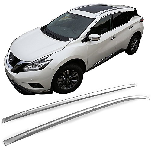 Roof Rack Fits 2015-2016 Nissan Murano | Factory Style ABS Plastic Cross Bar Top Side Rails Lugguage Carrier by IKON MOTORSPORTS ()