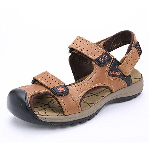 Xing Lin Sandalias De Verano Sandalias _ Sandalias De Verano Calzado De Playa Grande Piscina Baotou 150207 Light brown