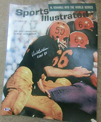DICK BUTKUS AUTOGRAPHED SIGNED 16 x 20 PICTURE PHOTO Dick Butkus Signed Photo