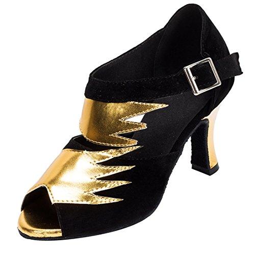 Heel 5 36 Femme Danse de MiyooparkUK Salon Gold HW180513 Black Miyoopark Or 8cm vwa67x