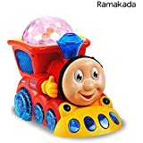 Ramakada Bump and Go Musical Engine Train Toy with 4D Light and Sound, Multi Color