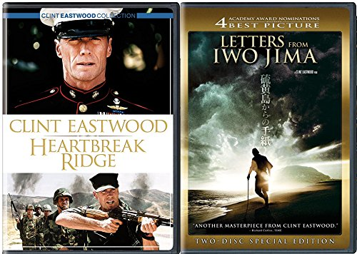 Gran Prix Collection (Clint Eastwood Heartbreak Ridge & Letters from Iwo Jima Special Edition 2 Disc DVD Pack Movie Set)