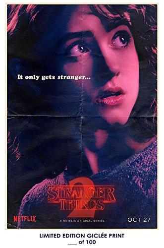 Rare Poster thick nancy Stranger Things 2 natalie dyer tv Reprint #'d/100!