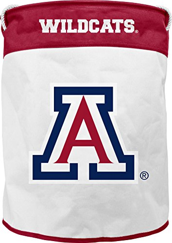 NCAA Arizona Wild Cats Canvas Laundry Basket with Braided Rope Handles