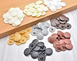 Coolfuy 500Pcs 17mm Dia Screw Cap Covers Decoration Tapping Screw Cover White