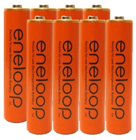 Eneloop AAA 4th Generation NiMH Pre-Charged Rechargeable 2100 Cycles 8 Battery & Holder