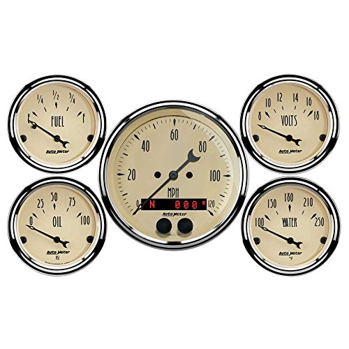 Auto Meter (1850) 5-Piece Gauge Kit by Auto Meter (Image #1)