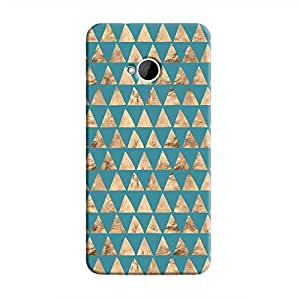 Cover It Up - Brown Blue Triangle Tile One M7 Hard Case