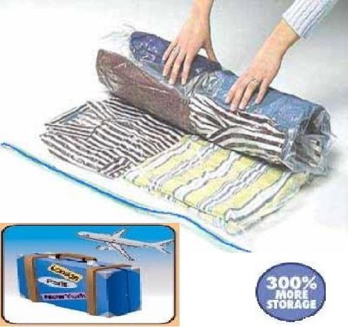 40 PACKs Medium Roll Up Travel Storage Bags Space Saver for luggage / - Air Prices Next Day Ups