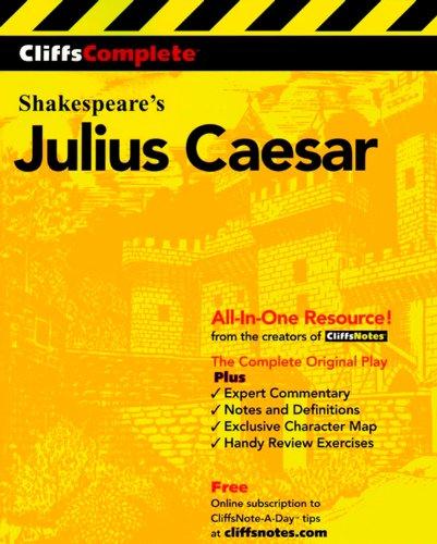 CliffsComplete Julius Caesar [William Shakespeare] (Tapa Blanda)