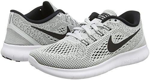 Nike Women's Free RN Running Shoes White/Pure Platinum/Black 5 B(M) US by Nike (Image #5)