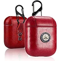 Mercedes Protective Leather Case Cover For Airpods 1 & 2