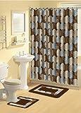 Bathroom Accessories Best Deals - Home Dynamix 339-309 Bath Boutique Poly-Acrylic 15-Piece Bathroom Set, Blue
