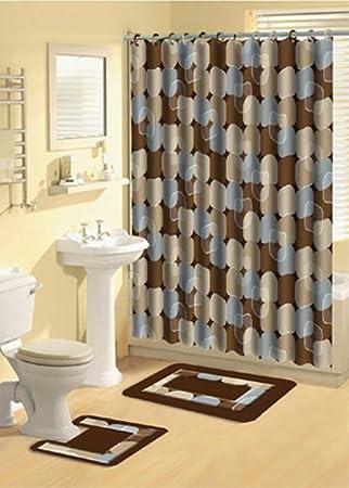 Beautiful Home Dynamix 339 309 Bath Boutique Poly Acrylic 15 Piece Bathroom Set,