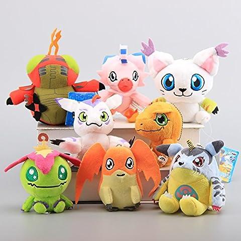 Digimon Digital Monster Agumon Gabumon Gomamon Palmon Patamon Piyomon Tailmon Tentomon 4.5 Inch Toddler Stuffed Plush Kids Toys 8 (Digimon Tailmon)