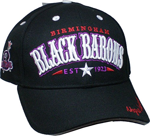 6b4ef955bff Cultural Exchange Birmingham Black Barons Legends S2 Mens Baseball Cap   Black - Adjustable