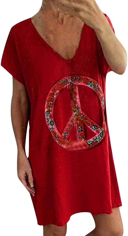Berimaterry Dia de Miembro Mujer Verano Damas de Vestir Vestido de ...