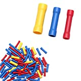 100Pcs Assorted Insulated Electrical Wire Cable Terminal Crimp Connector Set RF