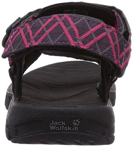 Jack Wolfskin SEVEN SEAS sandalias de mujer deportivas y para exterior rosa- azalea roja 2081