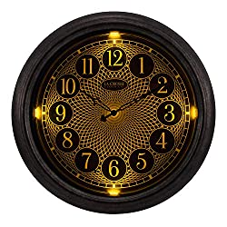 La Crosse Technology 403-3246 18 in in/Out Lighted Nickel Wall Clock
